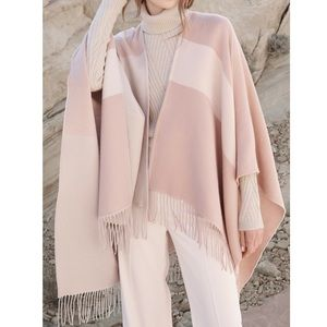 Woven scarfigan with fringe